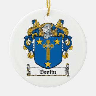 Escudo de la familia de Devlin Ornamentos De Navidad