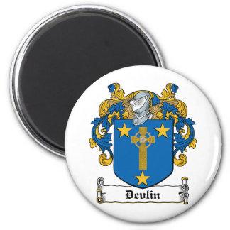 Escudo de la familia de Devlin Imán Redondo 5 Cm