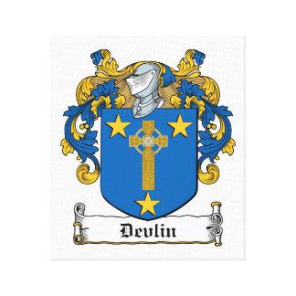 Escudo de la familia de Devlin Impresión En Lienzo