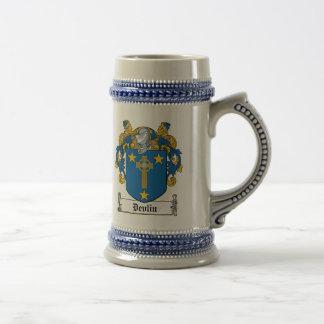 Escudo de la familia de Devlin Jarra De Cerveza