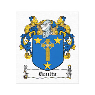 Escudo de la familia de Devlin Impresion En Lona