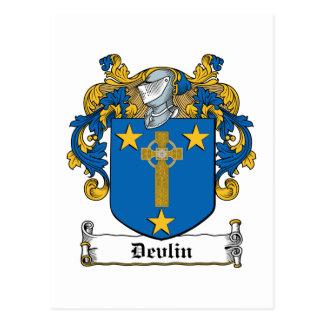 Escudo de la familia de Devlin Postal