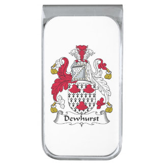 Escudo de la familia de Dewhurst Clip Para Billetes Plateado