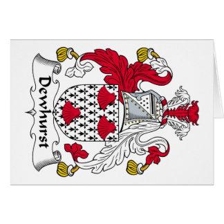 Escudo de la familia de Dewhurst Tarjeta De Felicitación