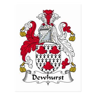 Escudo de la familia de Dewhurst Tarjetas Postales