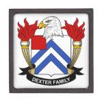 Escudo de la familia de Dexter Caja De Recuerdo De Calidad