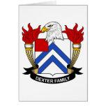 Escudo de la familia de Dexter Felicitacion