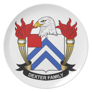 Escudo de la familia de Dexter Platos De Comidas