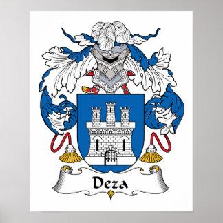 Escudo de la familia de Deza Impresiones