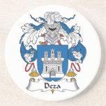 Escudo de la familia de Deza Posavasos Diseño