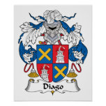 Escudo de la familia de Diago Poster
