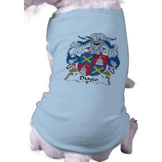 Escudo de la familia de Diago Playera Sin Mangas Para Perro