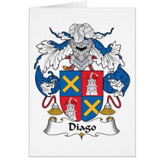 Escudo de la familia de Diago Tarjeta De Felicitación