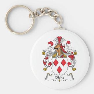Escudo de la familia de Dicke Llaveros Personalizados