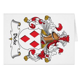 Escudo de la familia de Dicke Tarjeta De Felicitación