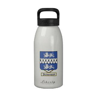 Escudo de la familia de Dickenson Botellas De Agua Reutilizables
