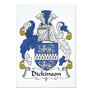 """Escudo de la familia de Dickinson Invitación 5"""" X 7"""""""