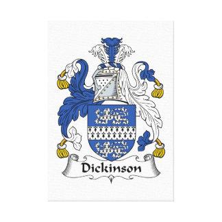 Escudo de la familia de Dickinson Lona Estirada Galerías