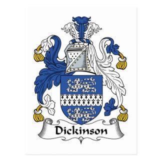 Escudo de la familia de Dickinson Postales