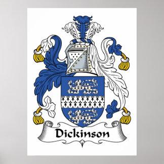 Escudo de la familia de Dickinson Posters