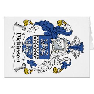 Escudo de la familia de Dickinson Tarjeta De Felicitación