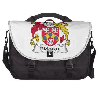 Escudo de la familia de Dickman Bolsa Para Ordenador