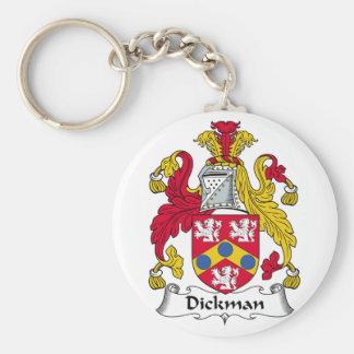 Escudo de la familia de Dickman Llaveros