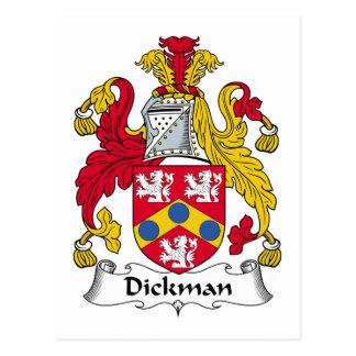 Escudo de la familia de Dickman Postales