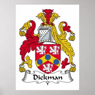 Escudo de la familia de Dickman Poster