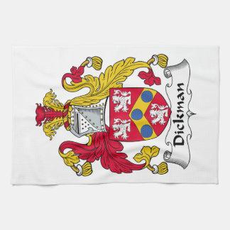 Escudo de la familia de Dickman Toalla
