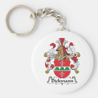 Escudo de la familia de Dickmann Llavero Redondo Tipo Pin