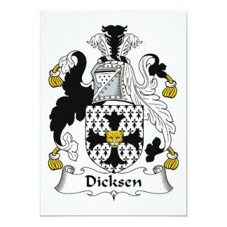 """Escudo de la familia de Dicksen Invitación 5"""" X 7"""""""