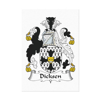 Escudo de la familia de Dicksen Impresión En Lona Estirada
