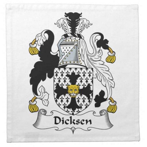 Escudo de la familia de Dicksen Servilletas
