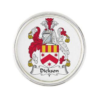 Escudo de la familia de Dickson Pin