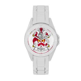 Escudo de la familia de Dickson Relojes