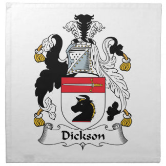 Escudo de la familia de Dickson Servilleta