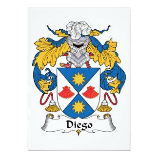 Escudo de la familia de Diego Invitación