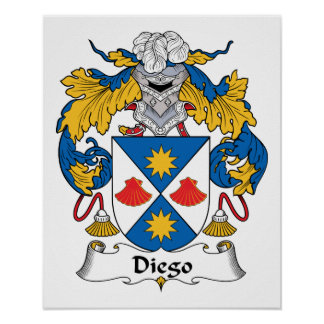 Escudo de la familia de Diego Poster