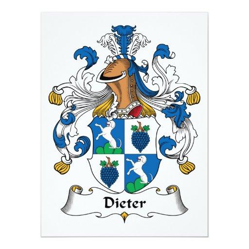 Escudo de la familia de Dieter Invitacion Personalizada