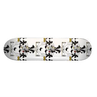 escudo de la familia de diez Haaf Skate Board
