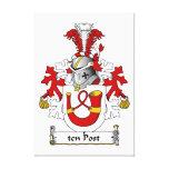 escudo de la familia de diez postes impresión en lona estirada