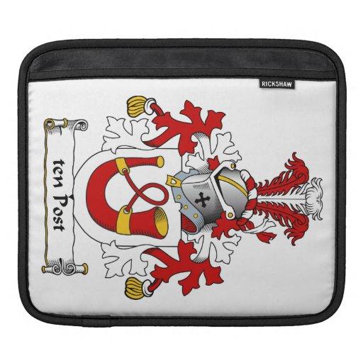 escudo de la familia de diez postes mangas de iPad