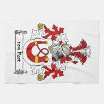 escudo de la familia de diez postes toallas de cocina