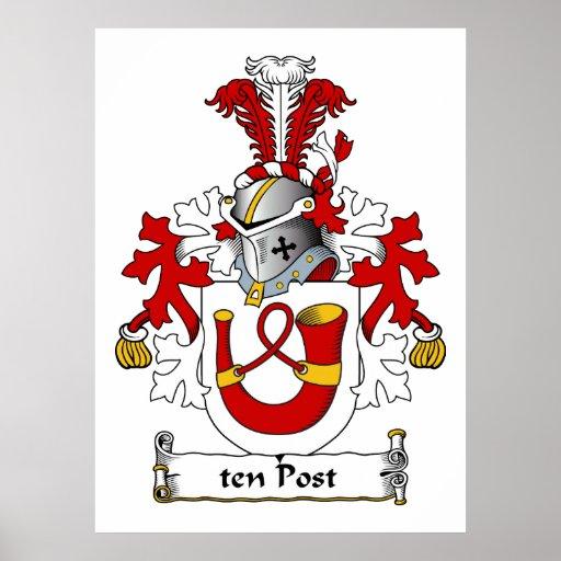escudo de la familia de diez postes posters