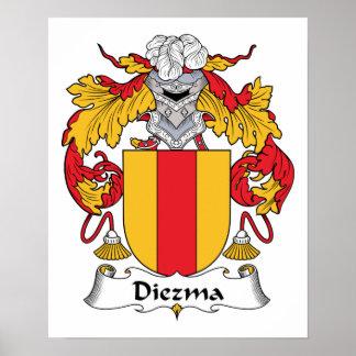 Escudo de la familia de Diezma Impresiones