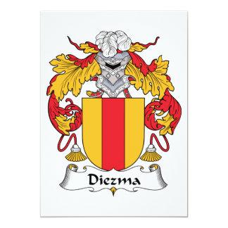 Escudo de la familia de Diezma Invitaciones Personalizada