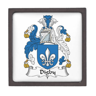 Escudo de la familia de Digby Caja De Regalo De Calidad