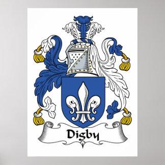 Escudo de la familia de Digby Impresiones