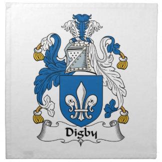 Escudo de la familia de Digby Servilleta